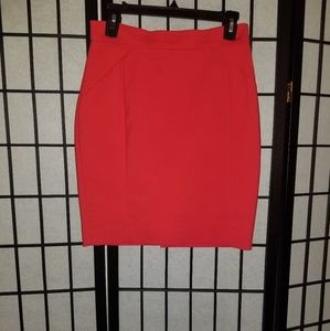 H&M red pencil skirt